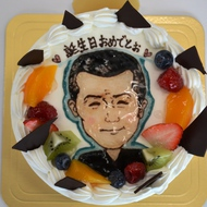 No.155・似顔絵オーダーケーキ(5号)(平面)