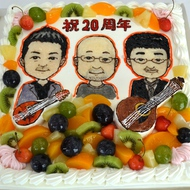 No.266・似顔絵オーダーケーキ(10号)(平面)(四角型)