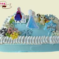 アナと雪の女王ロウソクケーキ(7号四角)